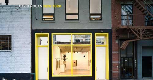 Ejemplos de paginas web que hacen buen uso de  imágenes en gran tamaño: David Nolan Gallery