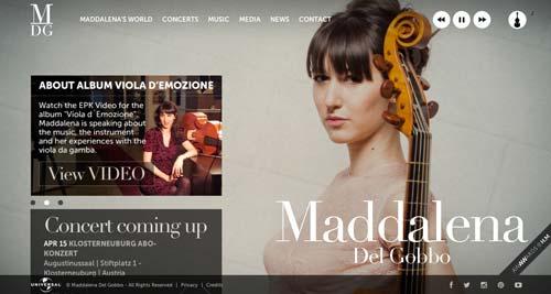 Ejemplos de paginas web que hacen buen uso de imágenes en gran tamaño: Maddalena del Gobbo
