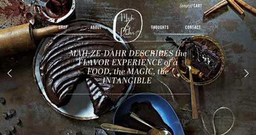 Ejemplos de paginas web que hacen buen uso de  imágenes en gran tamaño: Mah Ze Dahr Bakery
