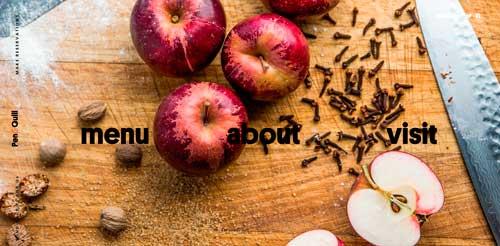 Ejemplos de paginas web que hacen buen uso de  imágenes en gran tamaño: Pen & Quill