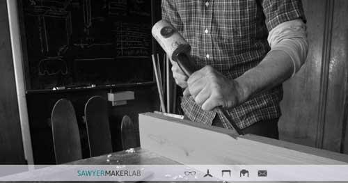 Ejemplos de paginas web que hacen buen uso de  imágenes en gran tamaño: Sawyer Maker Lab