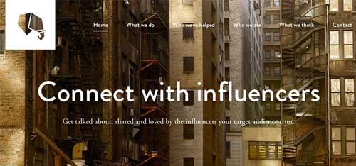 Ejemplos de paginas web que hacen buen uso de  imágenes en gran tamaño: Tribal