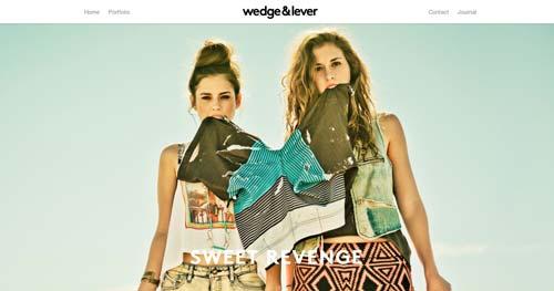 Ejemplos de paginas web que hacen buen uso de  imágenes en gran tamaño: Wedge & Lever
