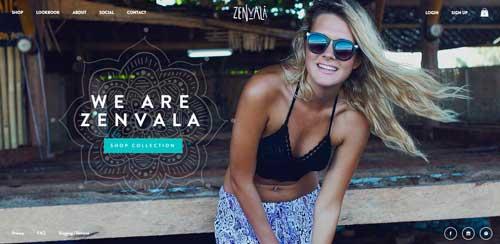 Ejemplos de paginas web que hacen buen uso de  imágenes en gran tamaño: Zenvala