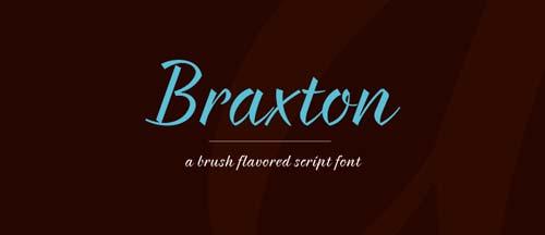Fuentes caligraficas gratuitas para tus diseños: Braxton