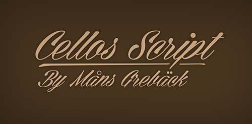 Fuentes caligraficas gratuitas para tus diseños: Cellos Script