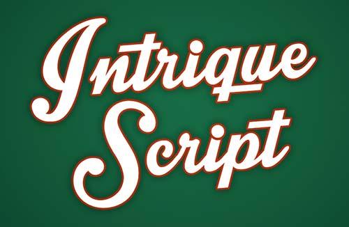 Fuentes caligraficas gratuitas para tus diseños: Intrique Script