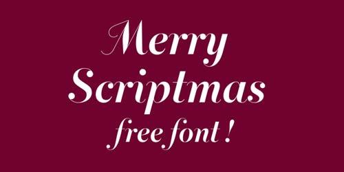 Fuentes caligraficas gratuitas para tus diseños: Merry Scriptmas