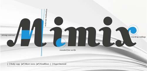 Fuentes caligraficas gratuitas para tus diseños: Mimix