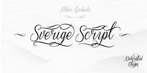 Fuentes caligraficas gratuitas para tus diseños: Sverige Script