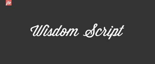 Fuentes caligraficas gratuitas para tus diseños: Wisdom Script