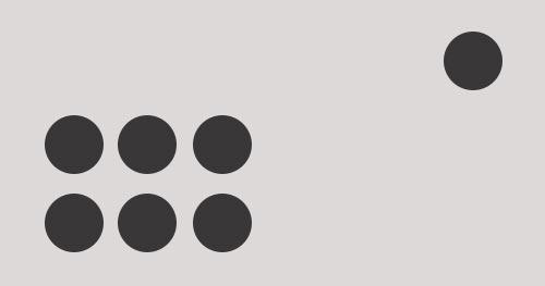 Maneras de incrementar el peso visual de un elemento: Alejar de grupo