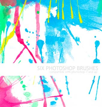 Pinceles Photoshop gratuitos con efecto de acuarela: 06Watercolor