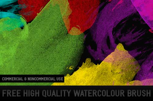 Pinceles Photoshop gratuitos con efecto de acuarela: 9 HQ Watercolor Brushes