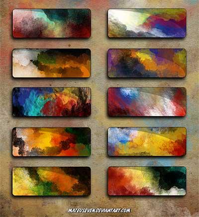 Pinceles Photoshop gratuitos con efecto de acuarela: Mateu's7 Watercolor Brushes