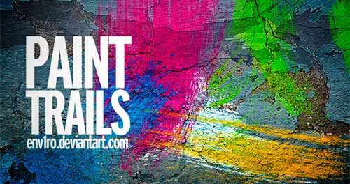 Pinceles Photoshop gratuitos con efecto de acuarela: Paint Trails Brushes