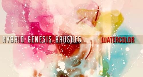 Pinceles Photoshop gratuitos con efecto de acuarela: Photoshop Watercolor Brushes