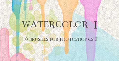 Pinceles Photoshop gratuitos con efecto de acuarela: Watercolor I