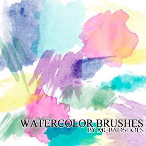 Pinceles Photoshop gratuitos con efecto de acuarela: Watercolor Brushes