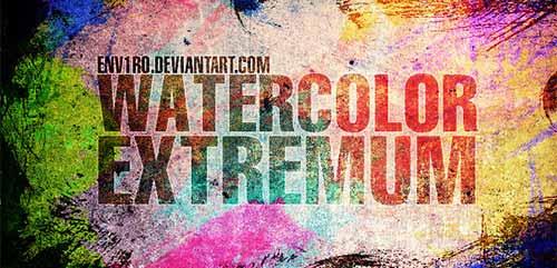 Pinceles Photoshop gratuitos con efecto de acuarela: Watercolor Extremum