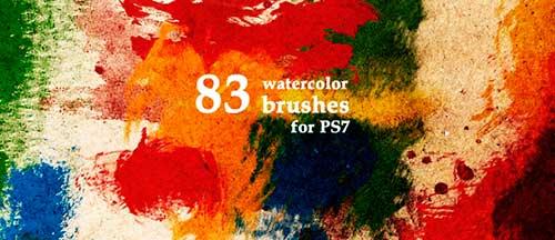 Pinceles Photoshop gratuitos con efecto de acuarela: WaterColor Reloaded
