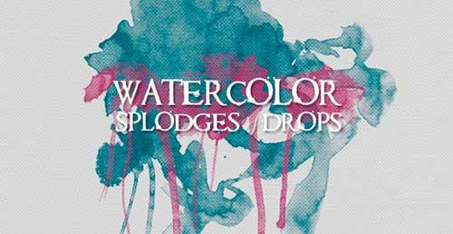 Pinceles Photoshop gratuitos con efecto de acuarela: WG Watercolor Splodges