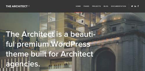 Temas WordPress adaptativos para portafolios online: Architect v2