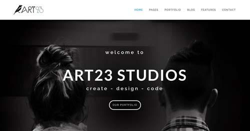 Temas WordPress adaptativos para portafolios online: Art23
