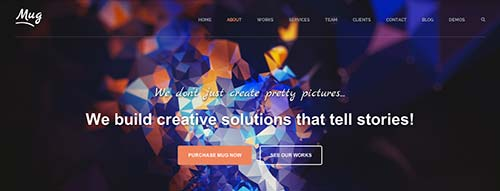 Temas WordPress adaptativos para portafolios online: Mug