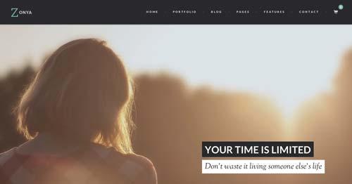 Temas WordPress adaptativos para portafolios online: Zonya