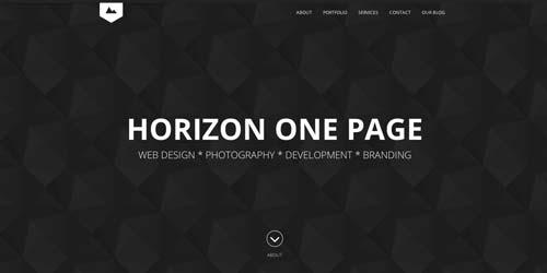 Temas WordPress adaptativos para portafolios online: Horizon