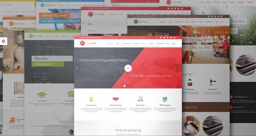 Temas WordPress flexibles para crear y personalizar tu sitio desde cero: Circle Flip