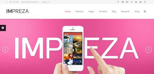 Temas WordPress flexibles para crear y personalizar tu sitio desde cero: Impreza