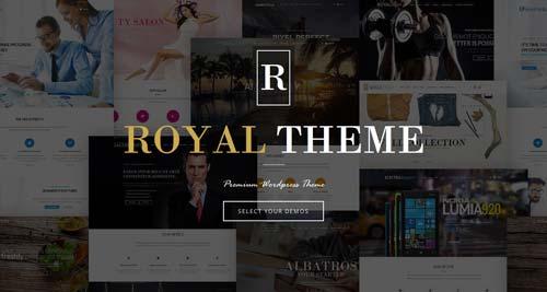 Temas WordPress flexibles para crear y personalizar tu sitio desde cero: Royal Theme