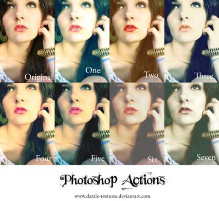 Acciones Photoshop gratuitas para añadir diversos efectos a tus fotos: Dazzle Effects 3