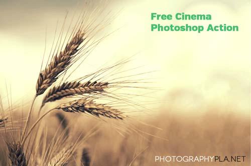 Acciones Photoshop gratuitas para añadir diversos efectos a tus fotos: Free Cinema Photoshop Action