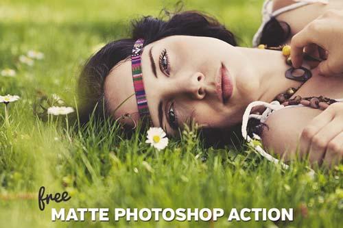Acciones Photoshop gratuitas para añadir diversos efectos a tus fotos: Free Matte Photoshop Action