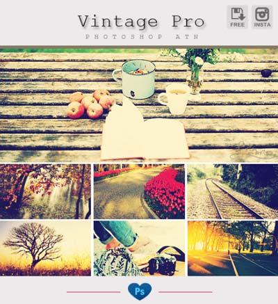 Acciones Photoshop gratuitas para añadir diversos efectos a tus fotos: Instagram Vintage Pro