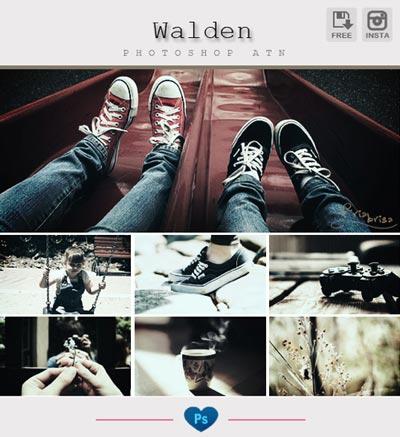 Acciones Photoshop gratuitas para añadir diversos efectos a tus fotos: Instagram Walden Photoshop Action