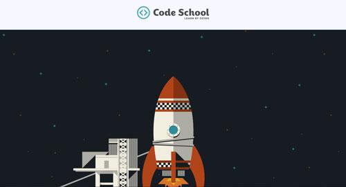 Ejemplos de paginas web creativas que presentan error 404: Code School