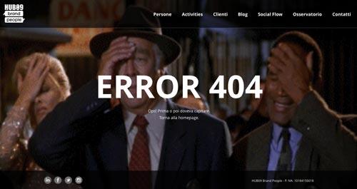 Ejemplos de paginas web creativas que presentan error 404:  Hub09