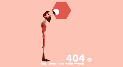 Ejemplos de paginas web creativas que presentan error 404: Laszlito