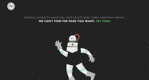 Ejemplos de paginas web creativas que presentan error 404: This by them