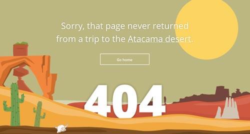 Ejemplos de paginas web creativas que presentan error 404: Tripomatic