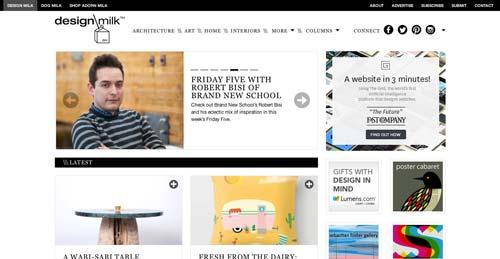 Ejemplos de paginas web de revistas y diarios online: Design Milk