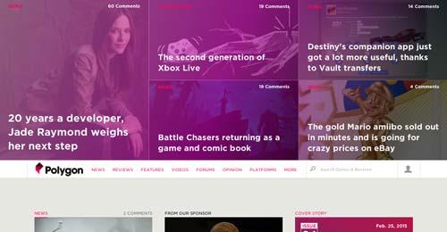Ejemplos de paginas web de revistas y diarios online: Poligon