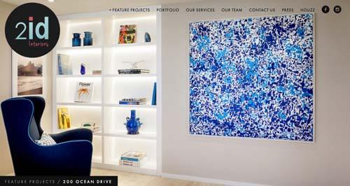 Ejemplos de paginas web de agencias de diseño de interiores: 2id Interiors