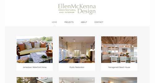 Ejemplos de paginas web de agencias de diseño de interiores: Ellen McKenna