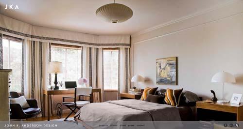 Ejemplos de paginas web de agencias de diseño de interiores: John K. Anderson