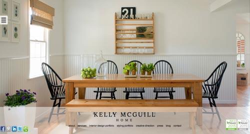 Ejemplos de paginas web de agencias de diseño de interiores: Kelly McGuill